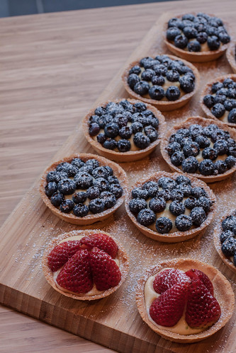 Blueberry & Strawberry Tarts | Flickr - Photo Sharing!