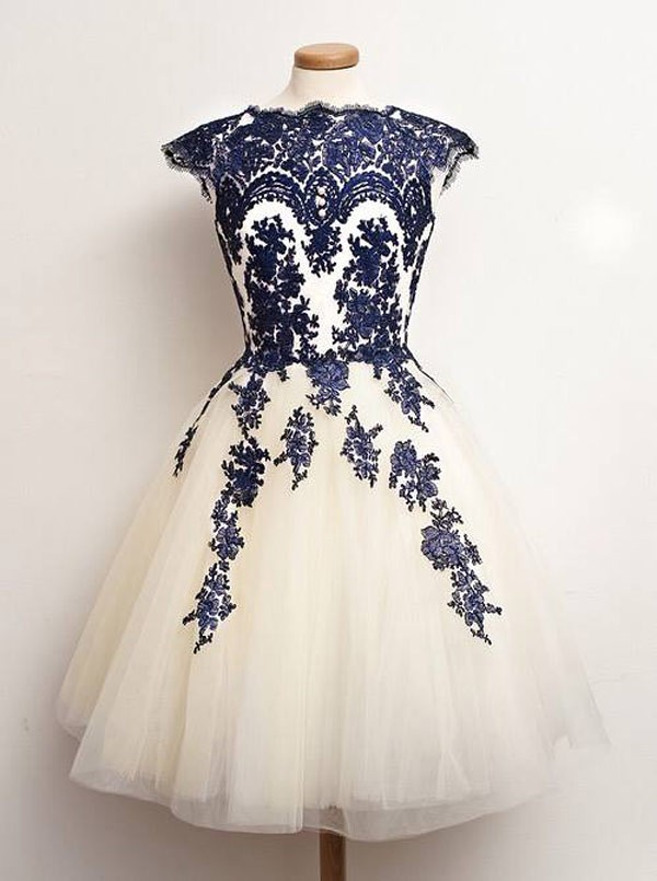 Gorgeous A-line High-neck Sash Chiffon Homecoming Dress