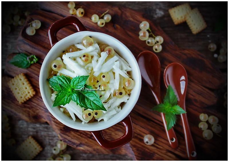...dessert salad white turnip currant