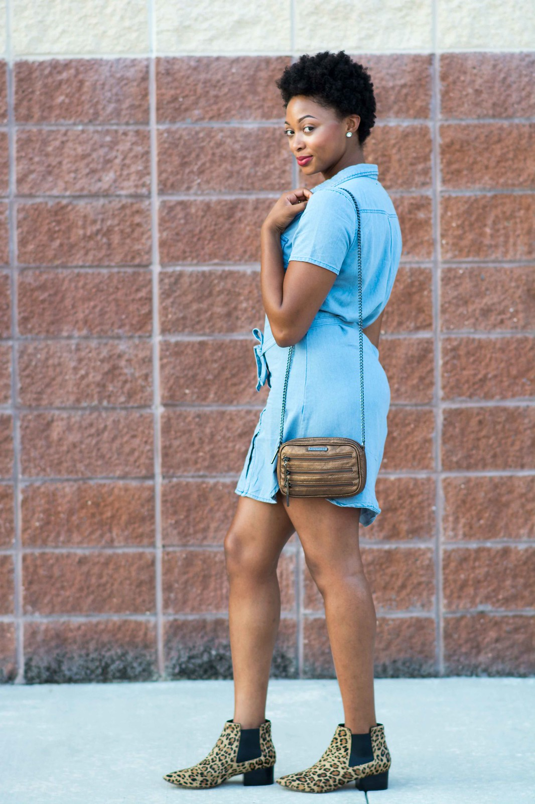 how to wear a chambray dress, the beauty beau