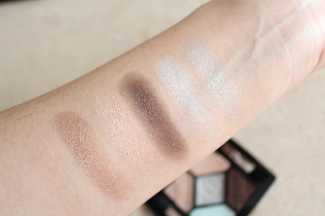 Swatches of Dior Eyeshadow palette in Parisian Sky for fall 2016 makeup