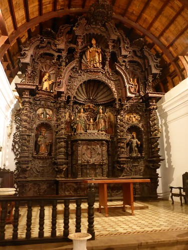 Church alter, with a secret passage to the tunnels