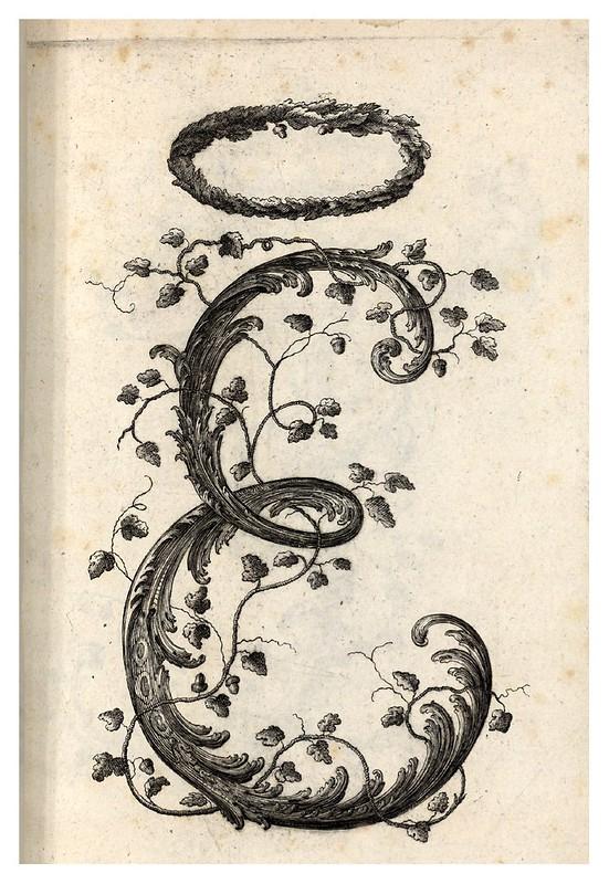 002-Letra E-Alphabet orné 1760 -BNF-Gallica