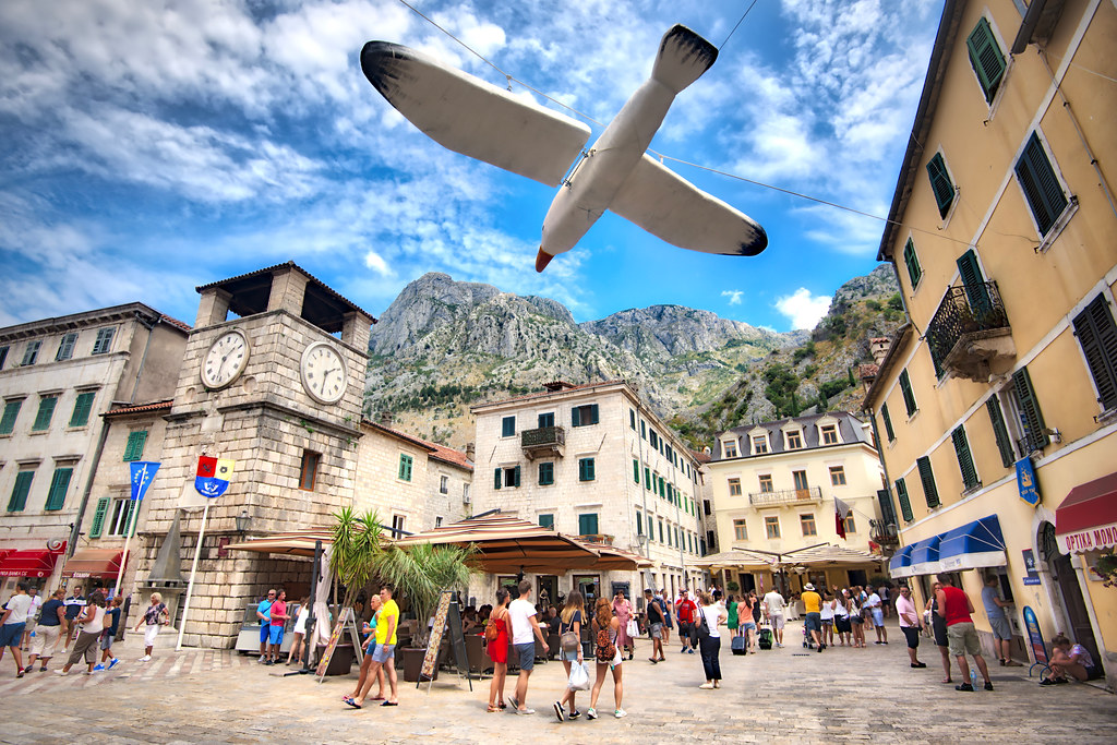 Bird & Clock in Kotor