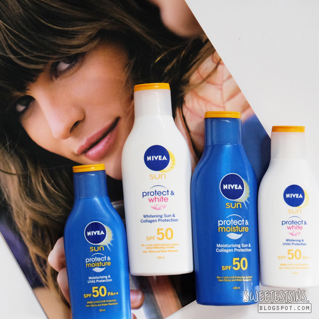 nivea protect & moisture sun lotion and nivea protect & white sun lotion review