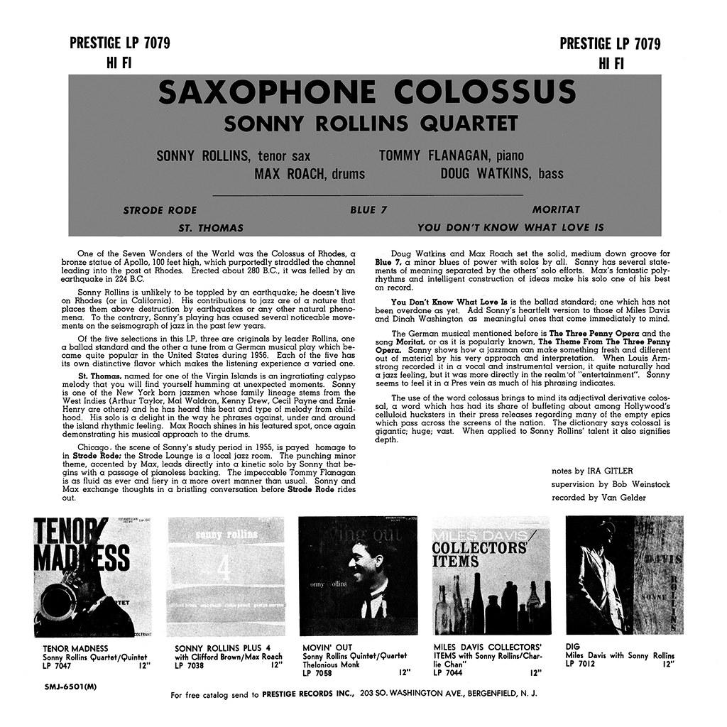 Sonny Rollins - Sax Colossus