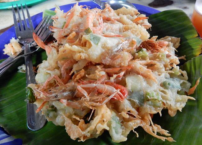 ukoy fried seafood filipino street food