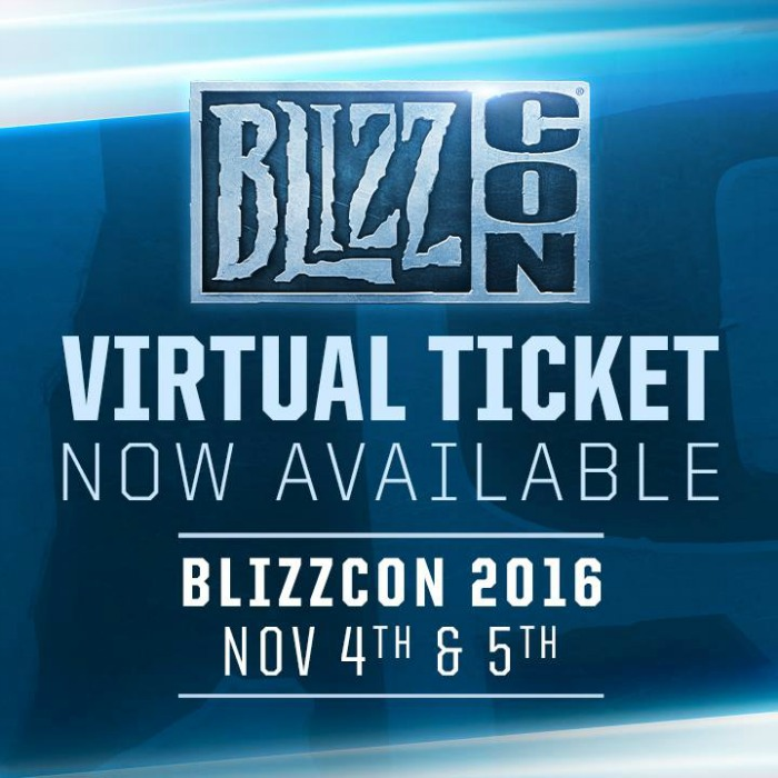 Boleto Virtual de BlizzCon 2016 ya disponible