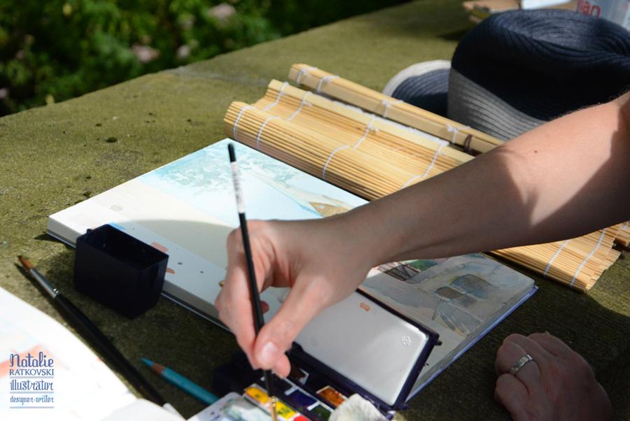 My plen-air workshop for illustrators in Herten