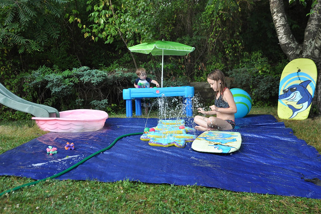 Kids Activities DIY Backyard Splash Pad