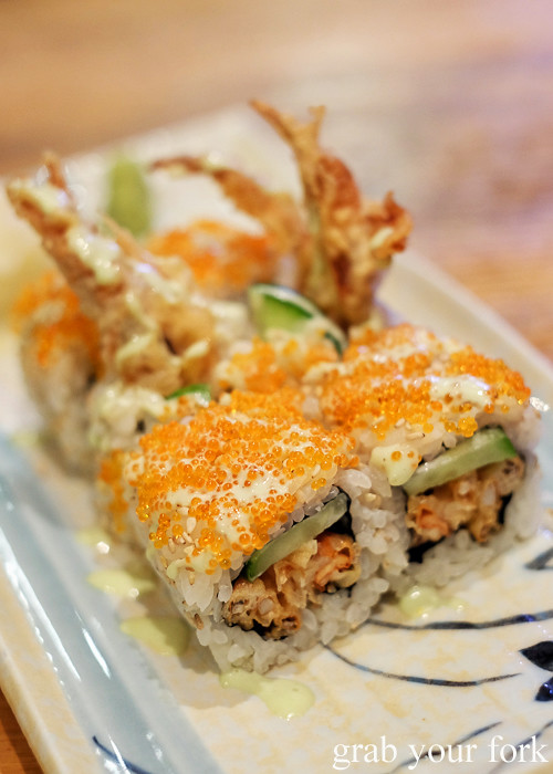Soft shell crab roll at Hana Ju-Rin in Crows Nest Sydney