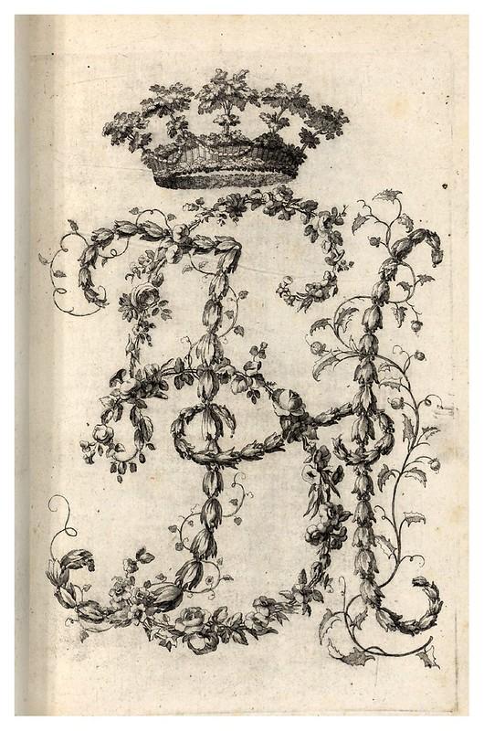 003-Letra H-Alphabet orné 1760 -BNF-Gallica