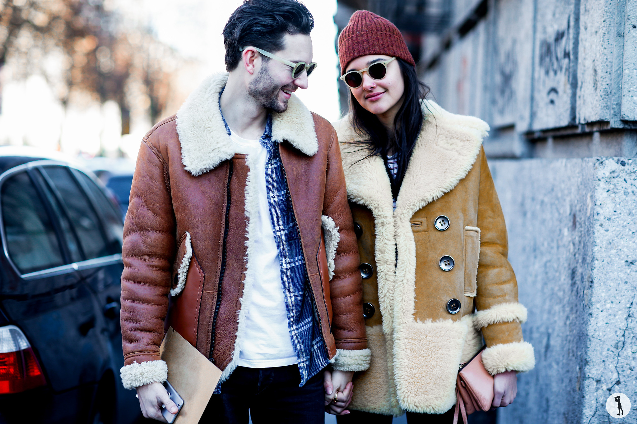 Isaac Hindin-Miller and Jenny Albright at Milan Fashion Week Menswear-2