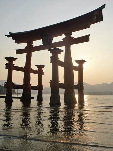 jp16-Myajima-Torii-coucher du soleil  (4)