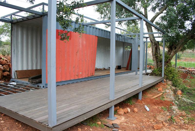 Строительство бытовки с террасой. Проект бюро Studio Arte