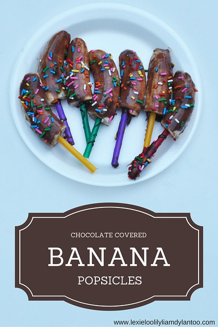 Chocolate Covered Banana Popsicles