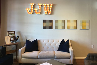 Joseph Jewell Winery - Wine tasting room sofa