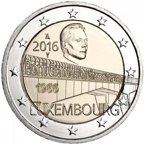 2 Euro Luxemburgsko 2016, Most Charlotte