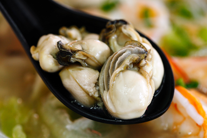 Plump Juicy Oysters Seafood Noodle
