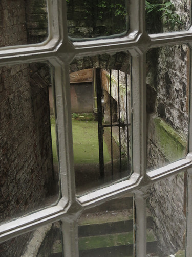 A window in the Crumlin St. Gaol (Jail) in Belfast, Ireland