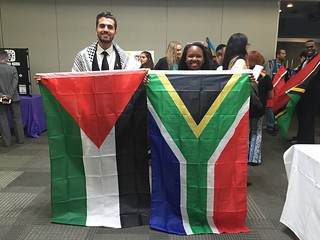 Ismail Aziza of Palestine and Thoko Miya of South Africa, Technovation World Pitch Summit 2016