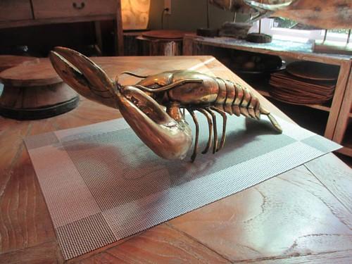 Shiny lobster #pei #brackleybeach #dunesstudio #lobster #sculpture #latergram