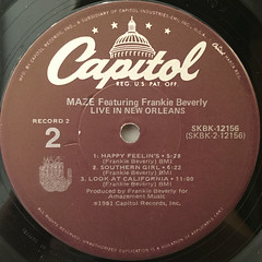 MAZE FEATURING FRANKIE BEVERLY:LIVE IN NEW ORLEANS(LABEL SIDE-C)