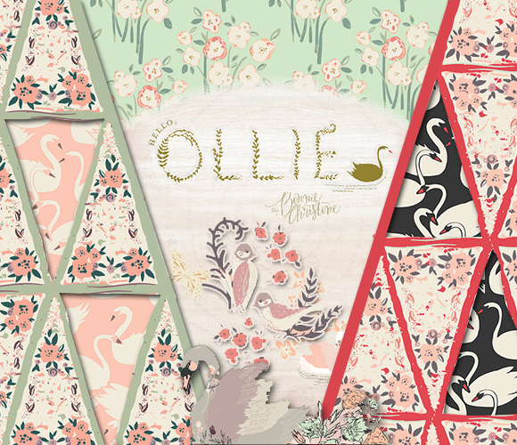 Art Gallery Fabrics Hello, Ollie Collection by Bonnie Christine