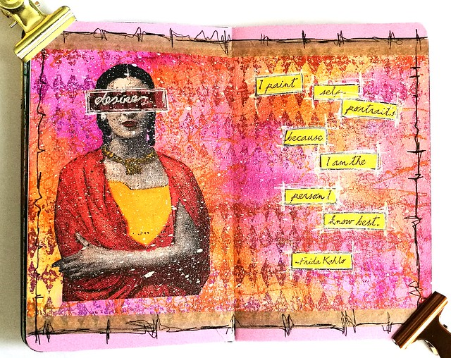 Frida Kahlo art journal