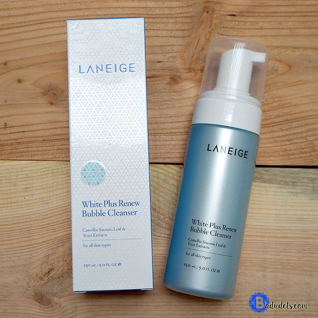 laneige white plus renew foam cleanser